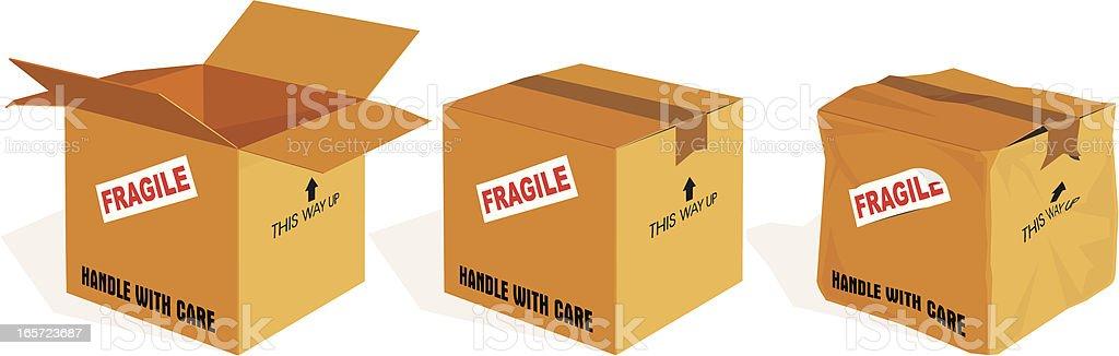 Boxes vector art illustration