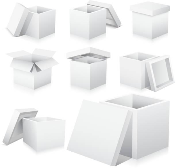 3 D Kartons – Vektorgrafik