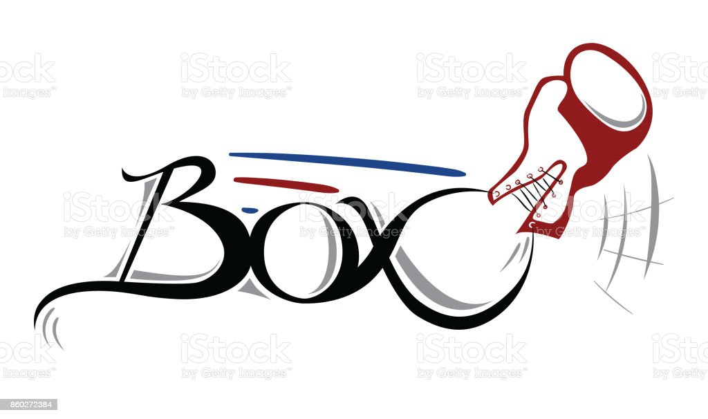 Boxing banner vector art illustration