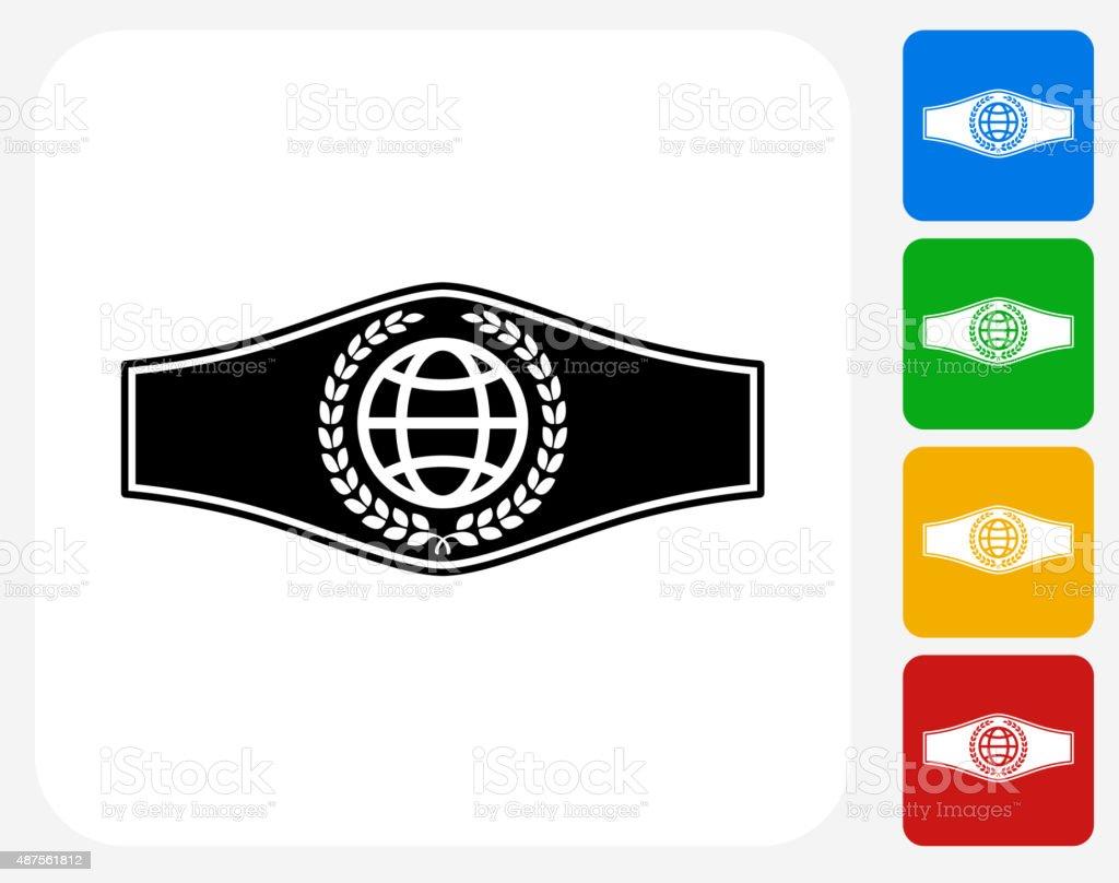 Boxing Belt Icon Flat Graphic Design vector art illustration