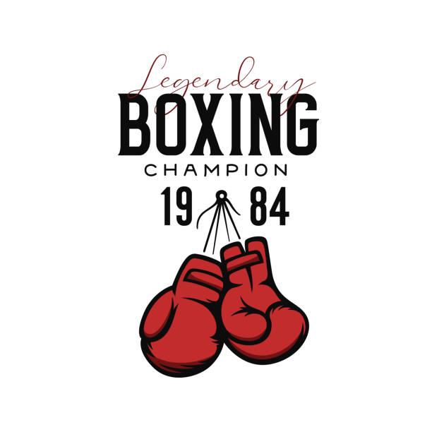 stockillustraties, clipart, cartoons en iconen met boksen kampioen t-shirt design. vector illustratie. - bokshandschoen