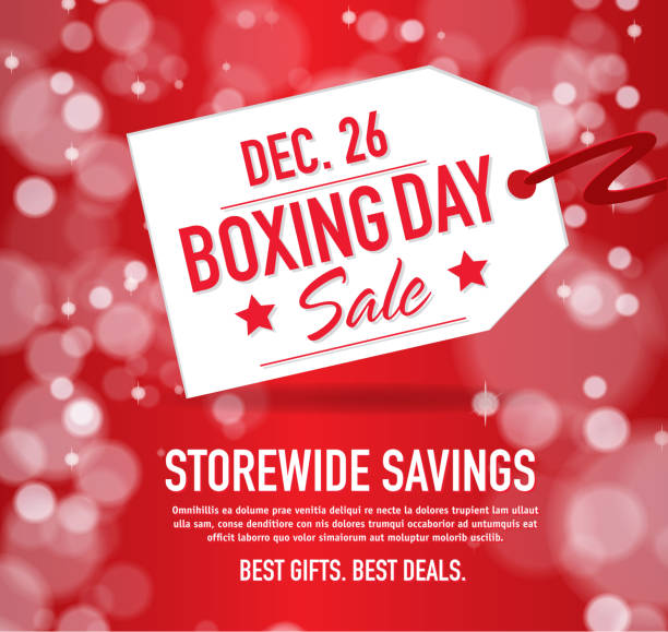 Royalty free boxing day clip art vector images illustrations istock boxing day sale advertisement with red tag and sample text vector art illustration m4hsunfo