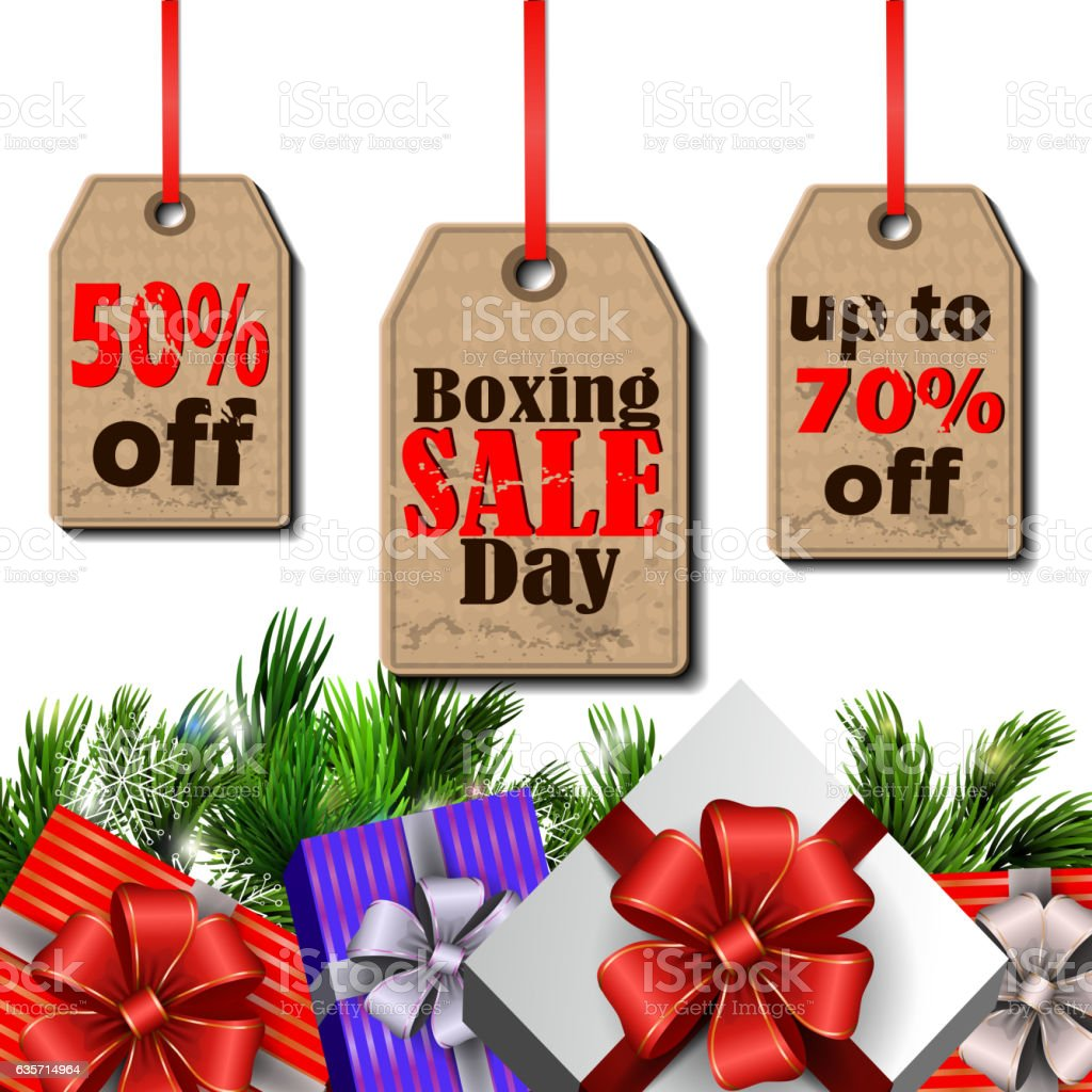 Boxing day tag royalty-free boxing day tag stock vector art & more images of branch - plant part