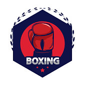 Boxing design template