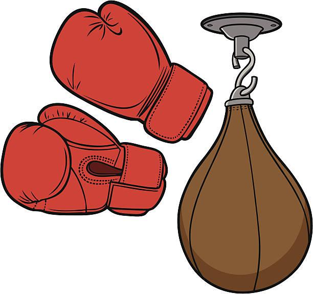 stockillustraties, clipart, cartoons en iconen met boxing equipment - kickboksen