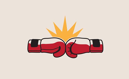 Boxing Fight Symbol Design Stock Illustration - Download ...
