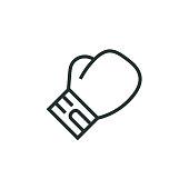 istock Boxing Glove Line Icon 1300711181