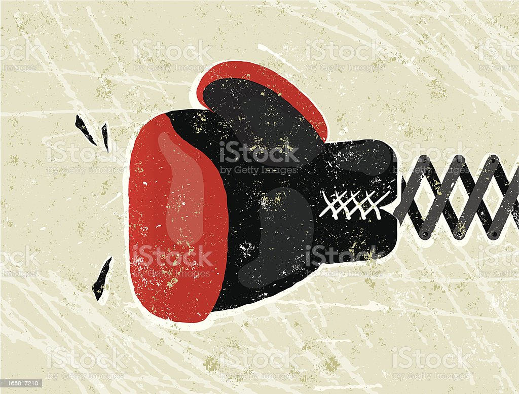 Boxing Glove vector art illustration