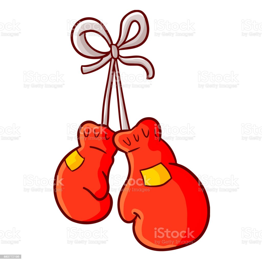 royalty free pair of red leather boxing gloves vector clip art rh istockphoto com boxing gloves clipart free download