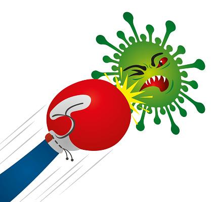 Boxing Glove VS Coronavirus