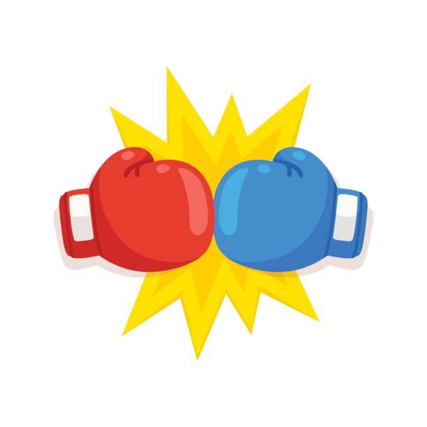stockillustraties, clipart, cartoons en iconen met bokshandschoen strijd pictogram - punch