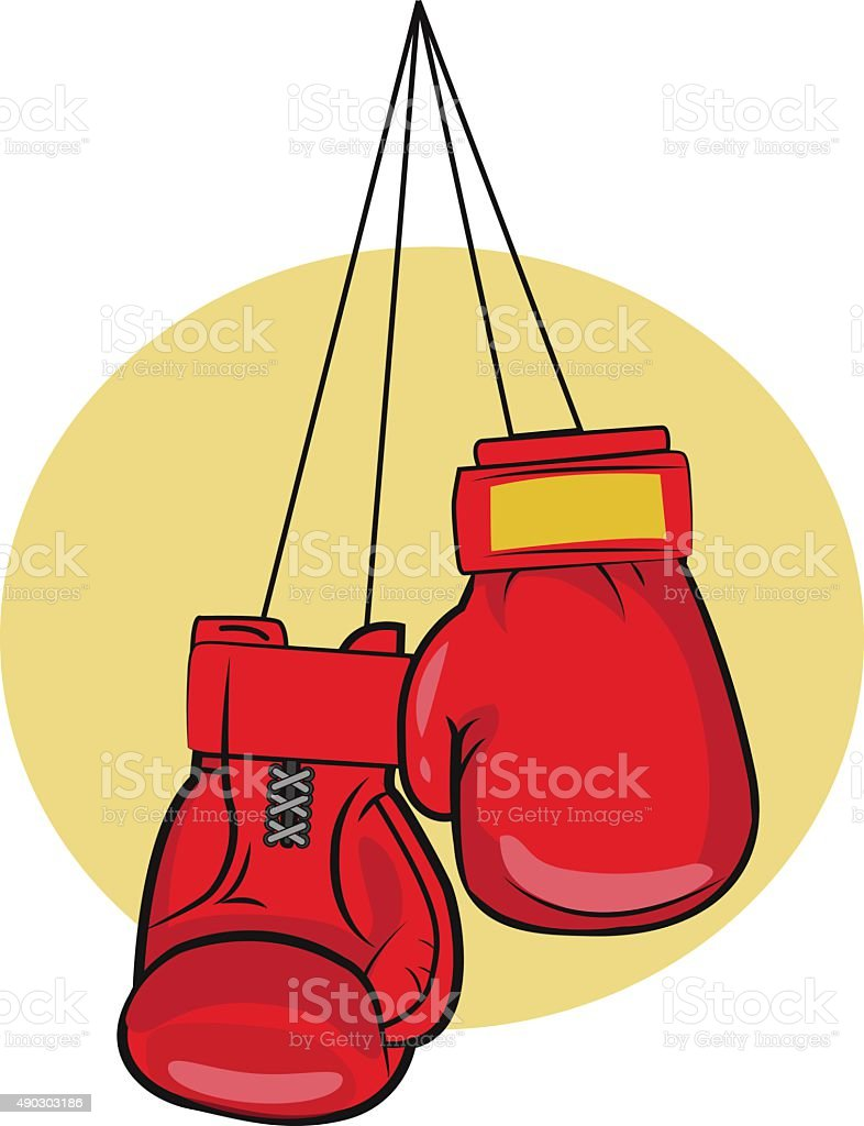 Boxing Gloves. Gloves Vector Illustrations. Boxing Gloves Icon. vector art illustration