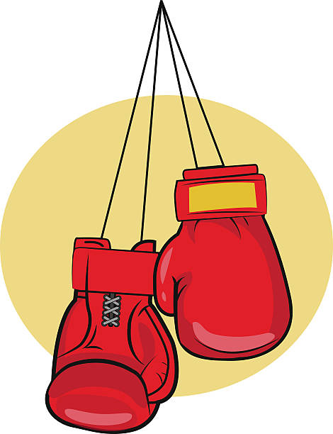 Hanging Pink Boxing Gloves Clipart