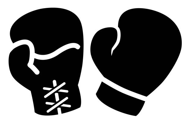 boxing gloves icon - boxing gloves stock illustrations, clip art, cartoons, & icons