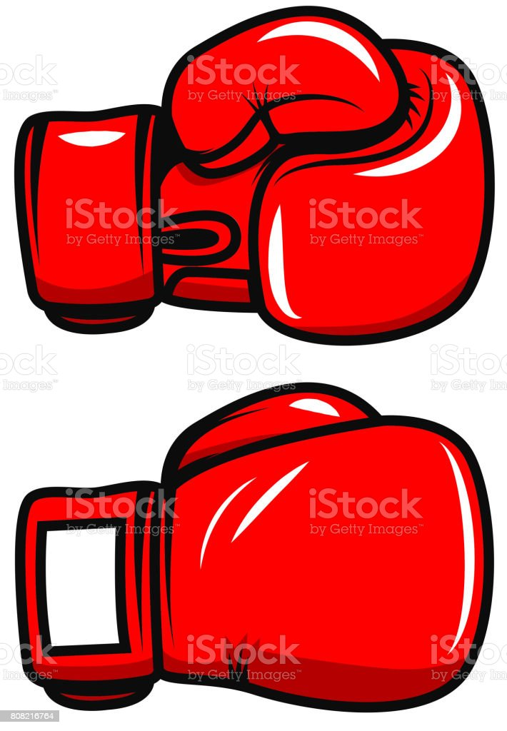Boxing gloves isolated on white background. Design element for poster, emblem, label, badge. Vector illustration vector art illustration