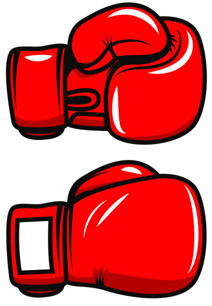 boxing gloves isolated on white background. design element for poster, emblem, label, badge. vector illustration - boxing gloves stock illustrations, clip art, cartoons, & icons