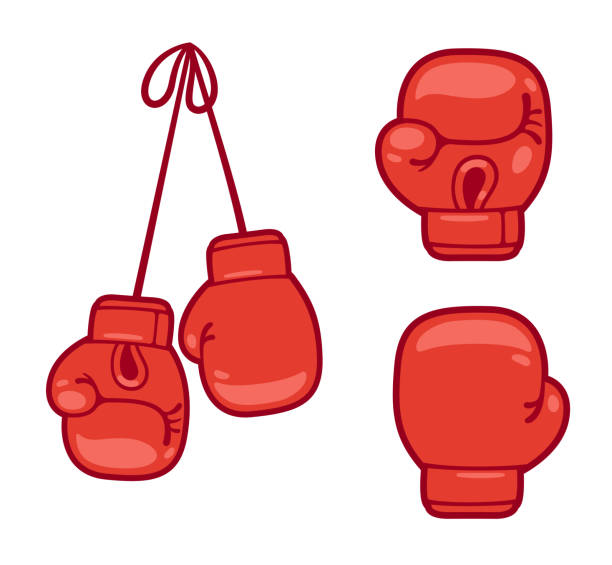 boxing gloves set - boxing gloves stock illustrations, clip art, cartoons, & icons