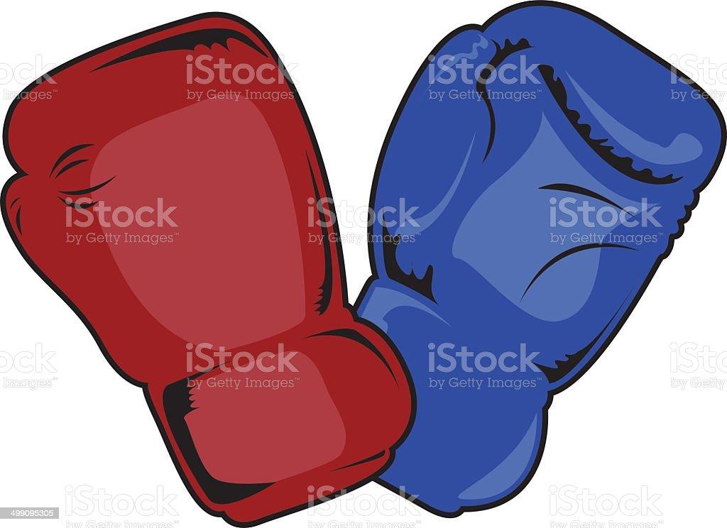 Ilustración de Guantes De Boxeo y más banco de imágenes de Azul ...