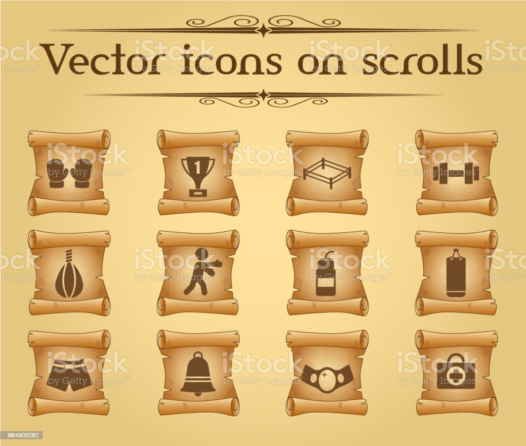 boxing icon set royalty-free boxing icon set stock vector art & more images of antique