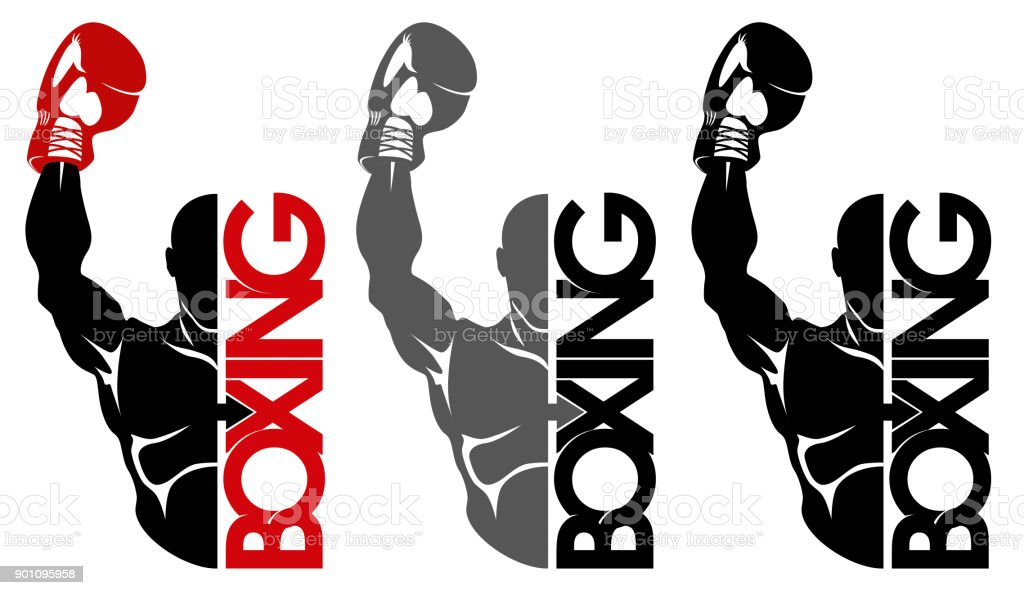 boxing icon vector art illustration