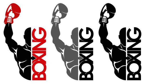 boxing icon vector art illustration