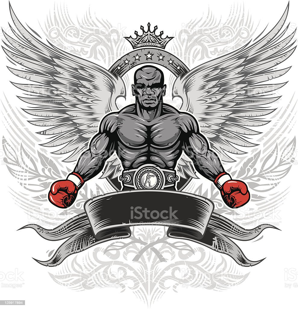 boxing legend royalty-free stock vector art