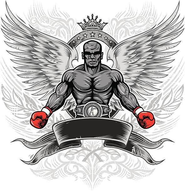 boxing legend vector art illustration