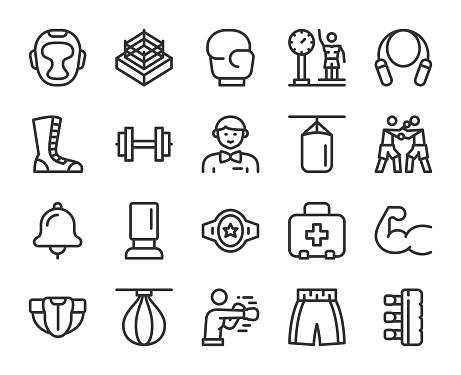 Boxing - Line Icons