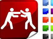 boxing match  icon on sticker