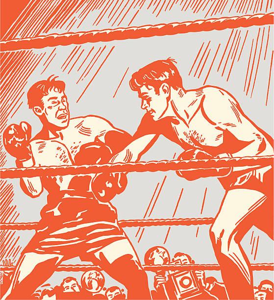 Boxing Match vector art illustration