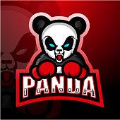 Vector Illustration of Boxing Panda mascot esport logo design