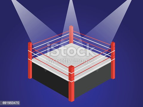 Boxing ring blue background stock vector art more images of angle boxing ring blue background stock vector art more images of angle 691953470 istock ccuart Images
