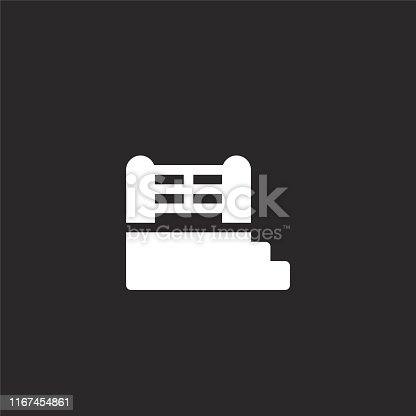boxing ring icon. Filled boxing ring icon for website design and mobile, app development. boxing ring icon from filled martial arts collection isolated on black background.