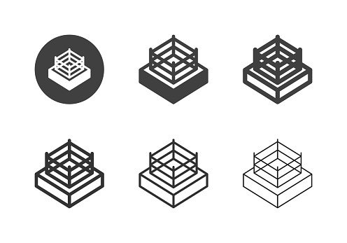 Boxing Ring Icons - Multi Series