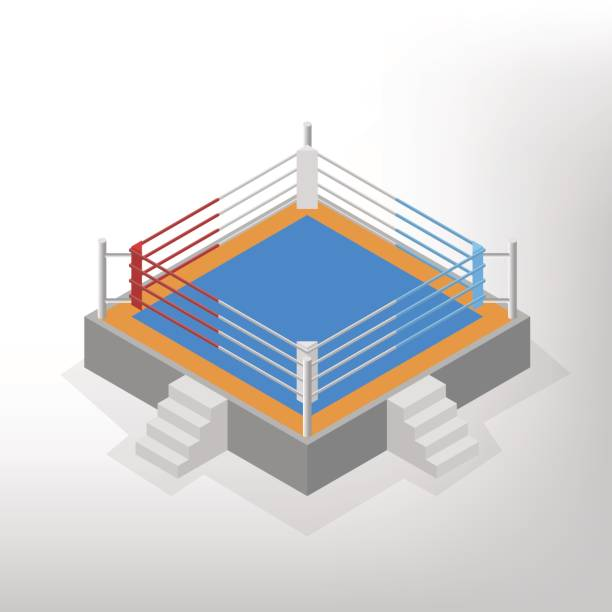 royalty free wrestling ring clip art vector images