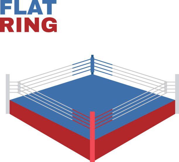 Top Boxing Ring Clip Art, Vector Graphics and ...  Top Boxing Ring...