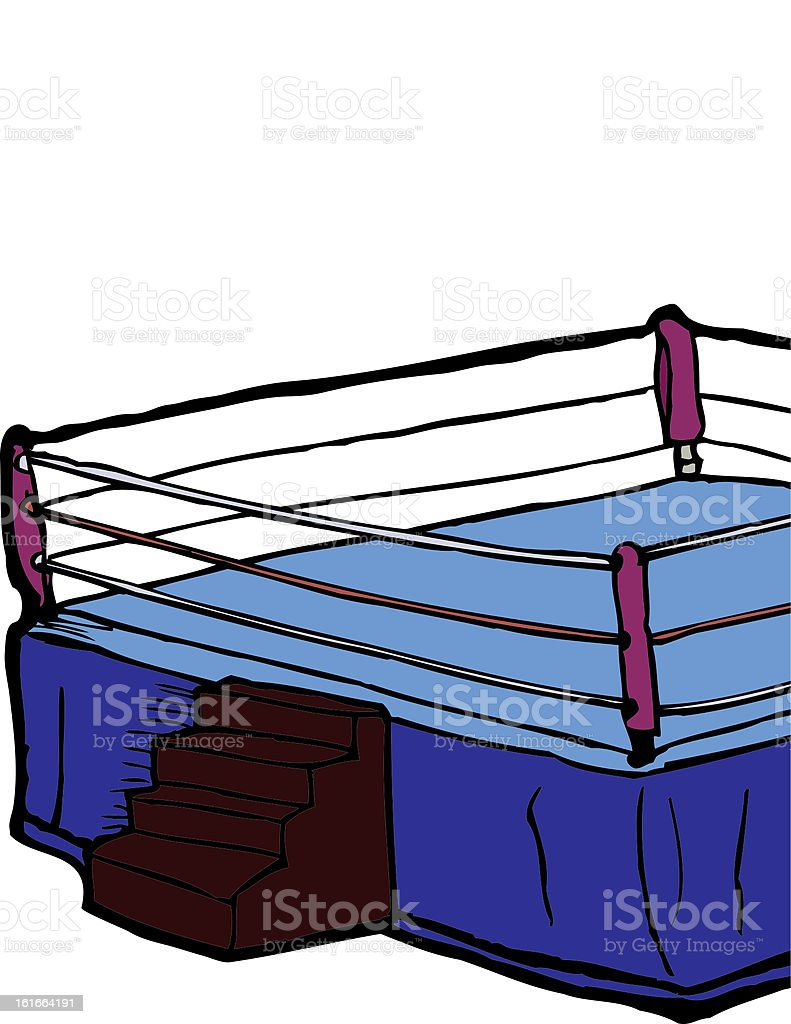 Boxing Ring royalty-free stock vector art