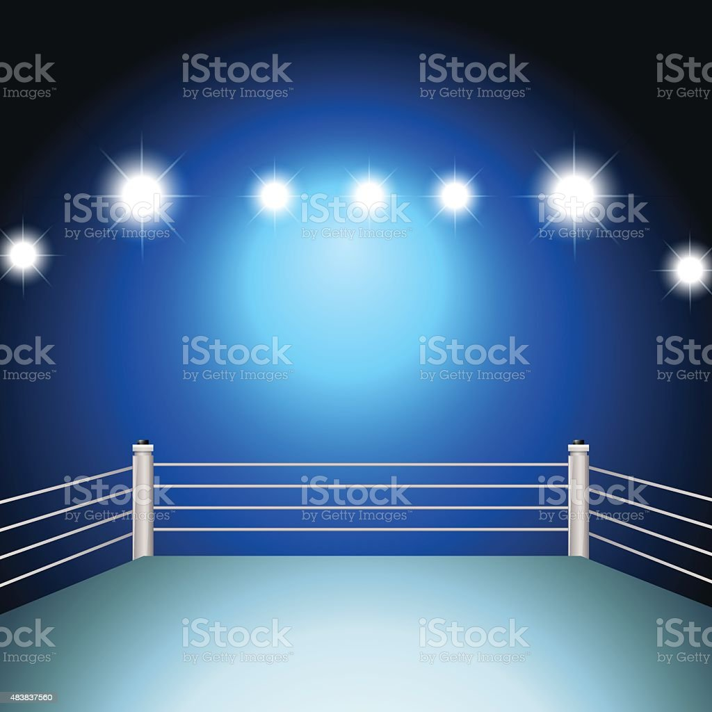 Boxing ring vector art illustration