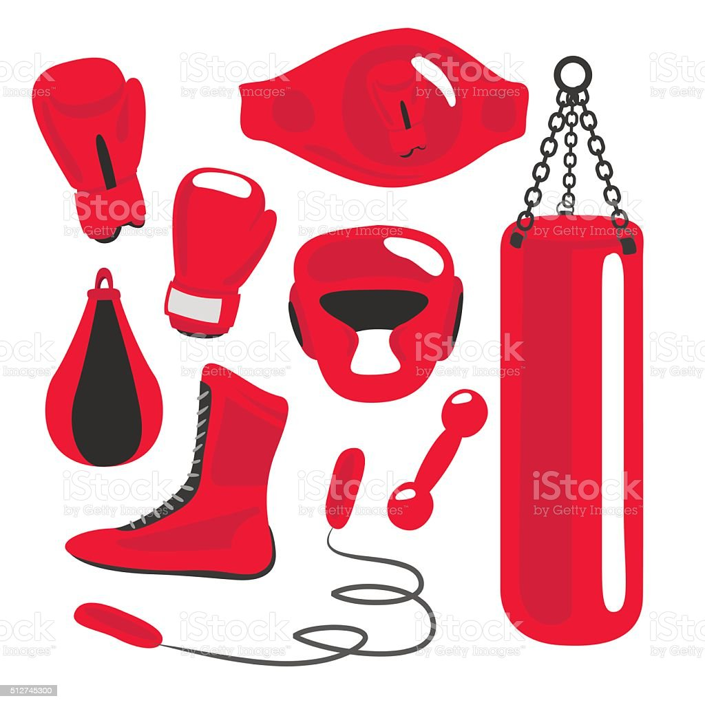 punching bag clip art, vector images & illustrations - istock
