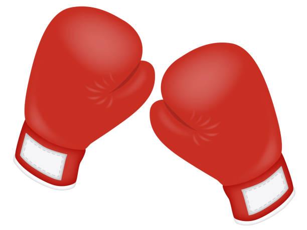 stockillustraties, clipart, cartoons en iconen met boksen - bokshandschoen