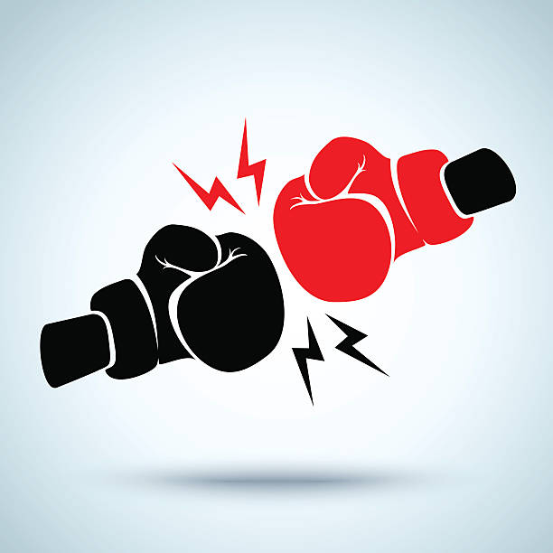 boxing - boxing gloves stock illustrations, clip art, cartoons, & icons
