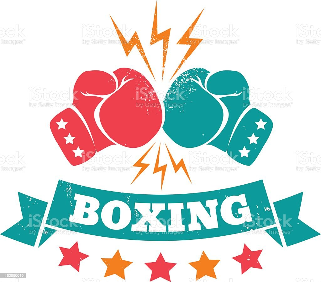 Boxing vector art illustration