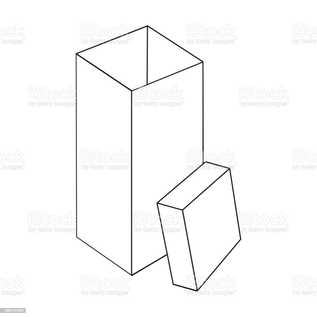 Boxning, inslagning, fall och andra web-ikonen i dispositionsformat. Box, behållare, paketet, ikoner i set samling. - Royaltyfri Behållare vektorgrafik