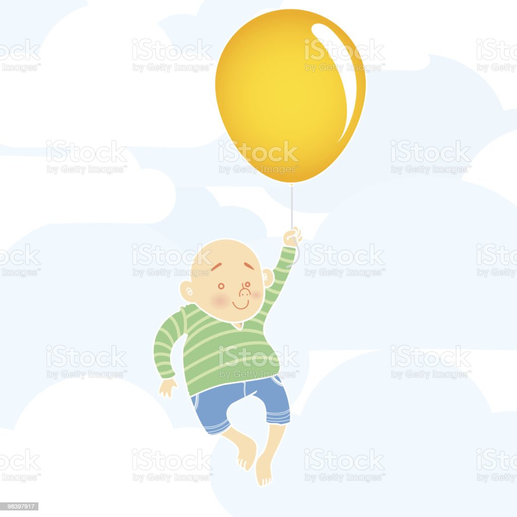 Boy and Balloon royalty-free boy and balloon stock vector art & more images of adult