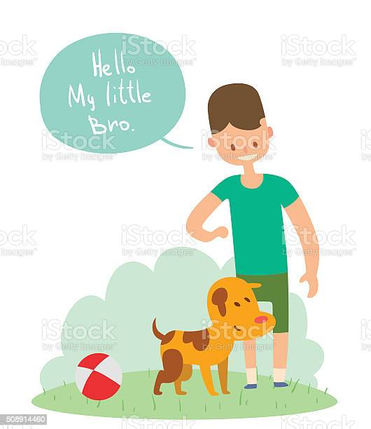 Boy and dog friends vector illustration vector id508914460?b=1&k=6&m=508914460&s=612x612&h=cd0i6tea1qmpxlr4id3nswscramfxfjybviuqkcabau=