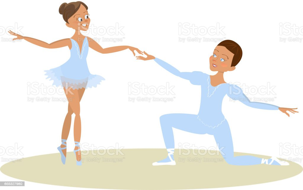 Boy And Girl Ballet Dancers Royalty Free Stock Vector Art