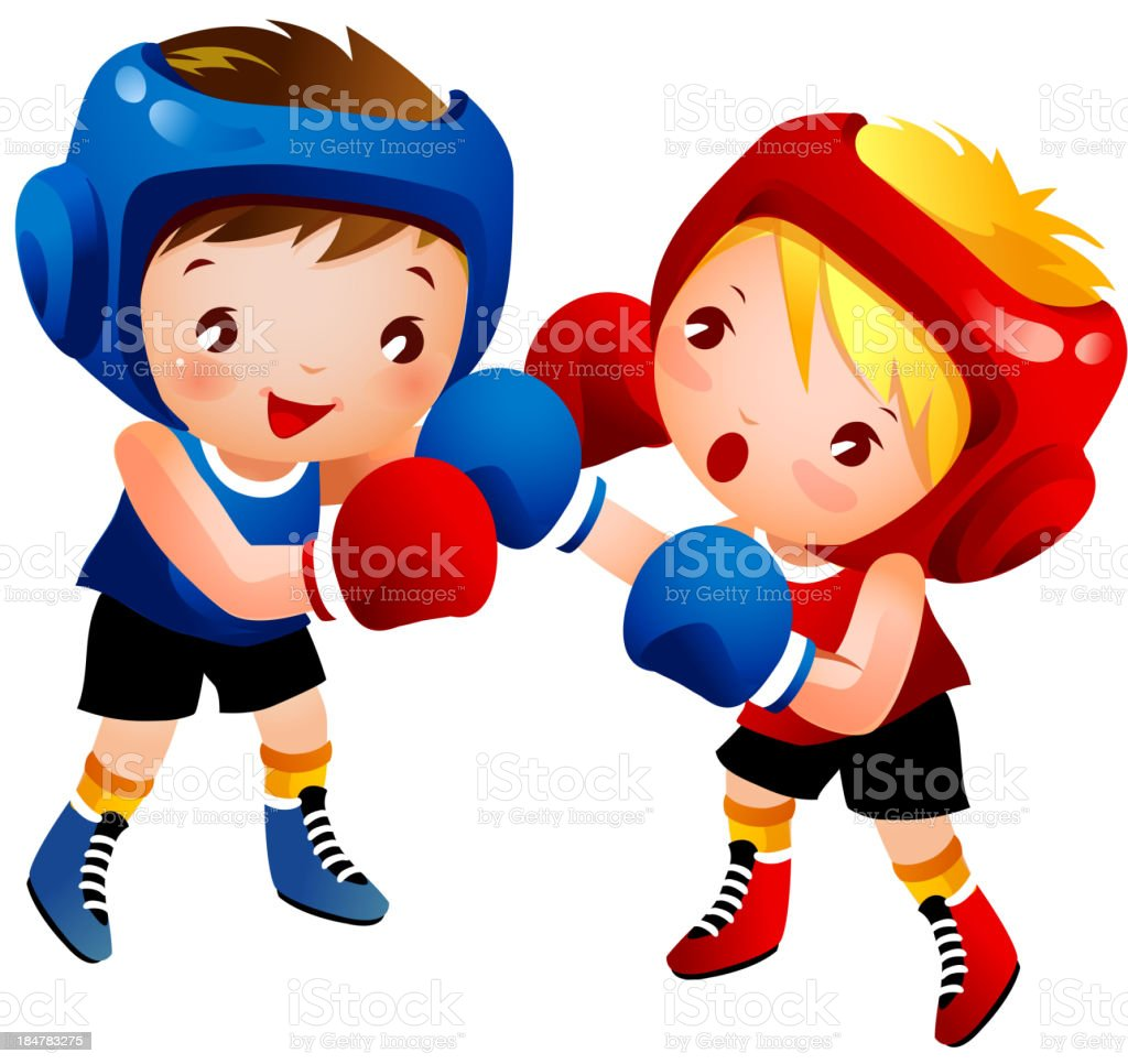 royalty free colorful boxing gloves pictures clip art vector images rh istockphoto com Pink Boxing Gloves Clip Art Boxing Glove Outline