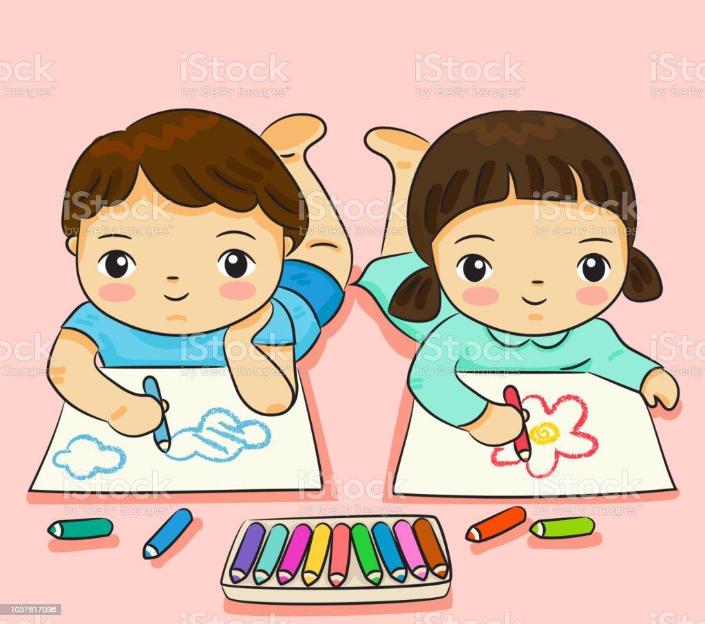 Dibujos De Amistad A Color