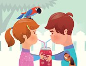 vector illustration of boy and girl drinking… (ai 10 eps with transparency effect)  [url=http://www.istockphoto.com/my_lightbox_contents.php?lightboxID=4481097] [img]http://work.idgraphic.net/children.jpg[/img][/url] [url=http://www.istockphoto.com/my_lightbox_contents.php?lightboxID=4481084] [img]http://work.idgraphic.net/animals.jpg[/img][/url]