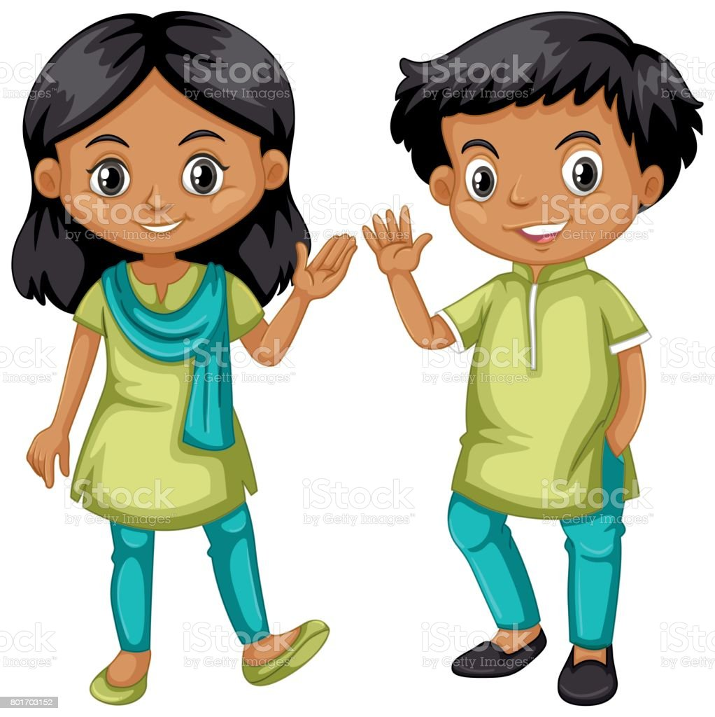 royalty free clip art of indian girl student clip art vector images rh istockphoto com girls student clipart png girls student clipart png